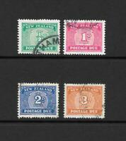 1939 King George VI SG D41 to D47aw set of 4 Fine Used POSTAGE DUE NEW ZEALAND