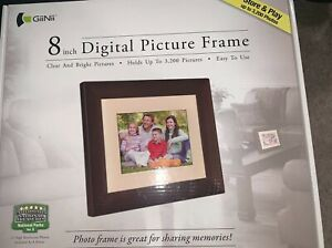 giinii digital picture frame 8 inch holds up to 3,200 pictures