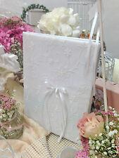 sehr edles Gästebuch 40 Blanco-Seiten 31x22cm, weiß edel Hochzeit Fotoeinsatz