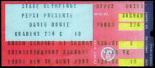 DAVID BOWIE REPRO 30 AUG 1987 OLYMPIC STADIUM MONTREAL CANADA CONCERT TICKET