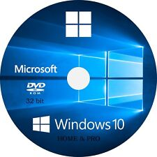 WIN 10, 32 Bit OEM install System Recovery Software Disc DVD - 2019 x 1!