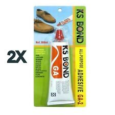 2 x 180ml Ks Bond Glue All Purpose Adhesive Leather Rubber Cloth Metal Glass