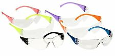 6-Pack Clear Lenses, Safety Goggle, Red, Blue, Green, Purple, Orange, and Black