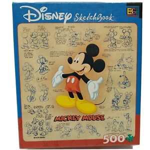 Disney Sketchbook Mickey Mouse Puzzle 529 Pc Buffalo Games Collectibles Complete