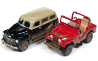 A.S.S NEU Johnny Lightning 1/64 Jeep CJ-5 Chevy Suburban 2-Pack Off Road 2018