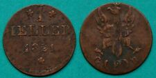 Frankfurt Altdeutsche Staaten 1 Heller 1821  G/F/B  (20326