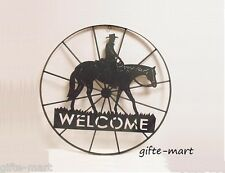 WELCOME sign Star HORSESHOE country western cowboy horse METAL Wall art outdoor