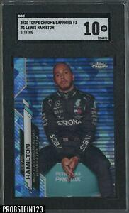 2020 Topps Chrome Sapphire Formula 1 F1 #1 Lewis Hamilton SGC 10 GEM MINT