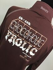 CHOCOHOLIC FROLIC BORNFIT SHIRT RUNNING ATHLETIC 5K BFIT BSTRONG BYOU WOMEN'S M