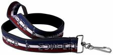 "Lanyard 1"" Key Chain Ring Neck Card ID Ford Mustang Tri Bar Stripe Genuine"