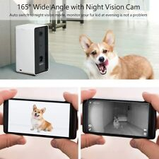 Iseebiz Smart Pet Camera, [Upgraded] Dog Camera Treat Dispenser, 2-Way Audio,