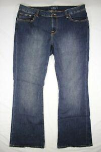 """Lucky Brand Ginger Boot Women's Jeans Dark Wash Size 18W Reg Inseam 33"""""""