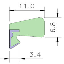 AQUAMAC 109 Draught Strip Seal - 109W White (3.5mm - 5.5mm) - 1m