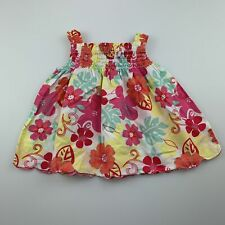 Girls size 1, Sprout, lightweight floral cotton summer top, GUC