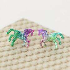 Colorful Horse Stud Earrings Shining Animal Earring Unicorn Women Party Gifts us