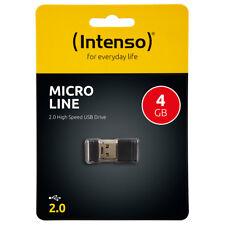 kQ Intenso 4GB USB Stick Micro Line mini USB flash drive 4 GB Speicher schwarz
