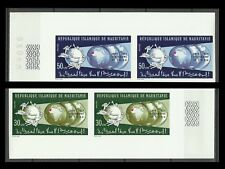 Mauritanie Espace Union Postale Upu Space Non Denteles Imperfs Proofs ** 1974
