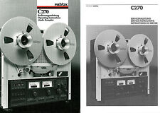 Revox Studer C270 Operating & Service Instructions C-270