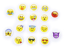 Set di SPILLE EMOJI - 16 pezzi - whatsapp emoticon smile funny