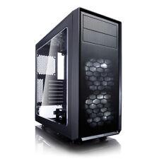 Fractal Design Focus G ATX Mid Tower Windowed White LED Fan Gaming PC Case Black