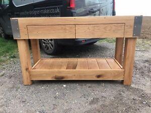 HUGE 6 foot English OAK butchers block kitchen island table custom made anysize