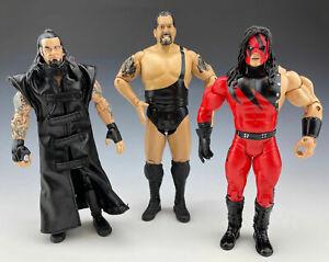 2003 Jakks WWE WWF Classic Superstars Figures Undertaker Kane Big Show Lot of 3