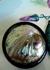 1930's Large Abalone Shell Button