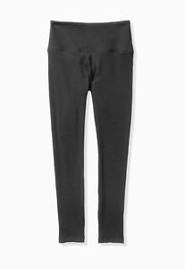 VICTORIA'S SECRET PINK YOGA HIGH WAIST COTTON RIBBED BLACK LEGGING size M