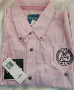 NWT Wrangler Tough Enough To Wear Pink Checkered LS Shirt (Men's XL)