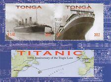 Titanic Crucero Ocean Liner Barco naufragio Menta desmontado Sello sheetlet