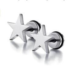Edelstahl Stern Muster Ohrstecker Ohrring OHRRINGE Silber
