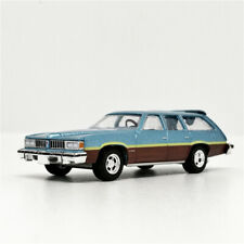 Greenlight 1:64 Pontiac LeMans Safari Wagon 1977 Glacier Blue Metallic w No Box