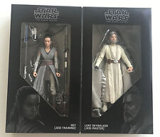 Sdcc Comic Con 2017 Hasbro Star Wars Luke Skywalker Rey Black Series Figures