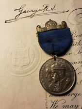 KING GEORGE V ROYAL ORDER SIGNED ON 20/10/1917 & CORONATION MEDAL 06/22/1911