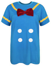 Disney Parks Donald Duck Costume with Red Bow Tie - Ladies Women's Blue T-Shirt