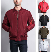 Victorious Men's Padded Bomber Jacket Flight Military Air Force MA-1  JK735-E10A