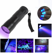 UV Ultra Violet 12 LED Flashlight Blacklight Light 395 nM Inspection Lamp Torch