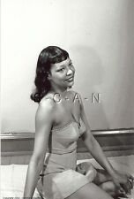 1940s-60s B&W (4 x 6) Repro Semi Nude Risque RP- Black Woman- In Corset & Skirt