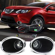 For 2017 2018 Nissan Rogue Sport Fog Light Lamp w/Bulb+Switch+Harness+Bezel/1set
