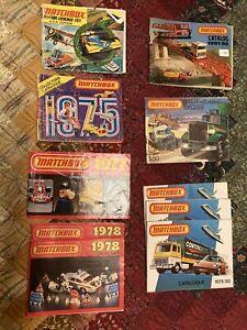 matchbox catalogs Lot Of 10, 73-80's