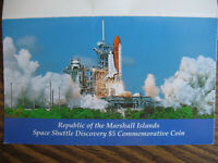 1988 Space Shuttle Discovery $5.00 Commemorative Coin-Republic Marshall Islands