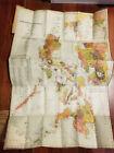 "Carmelo and Bauermann JOHN BACH Philippine Islands Manila 1926 Map 25x36"" Asia"