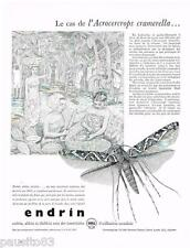 PUBLICITE ADVERTISING 105  1956  SHELL insecticides ENDRIN    ACROCERCROPS CRAME