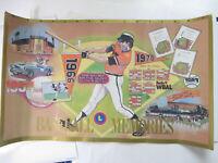 """Vtg 1992 Baltimore Orioles Poster Baseball Memories Maryland Lottery 30 X 18"""""""