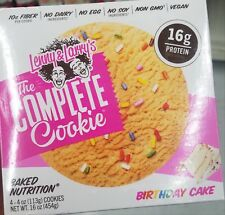 NEW LENNY & LARRY'S THE COMPLETE COOKIE BIRTHDAY CAKE 4 COOKIES PER BOX 16 OZ