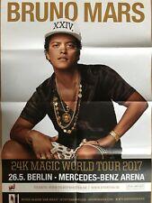Bruno Mars 2017 Berlin-orig. Concert Poster-concert affiche a1 F/N