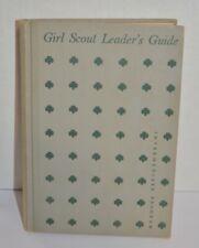 Girl Scout Leader's Guide Intermediate Program 1955 Hard Book