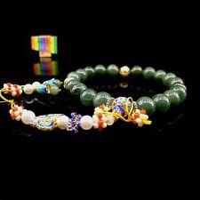 【JadeiteBird】13.5mm Certified 100% Natural Qing court 18 Jadeite Jade Beads