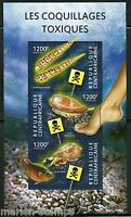 CENTRAL AFRICA  2015 TOXIC SHELLFISH  SHEET MINT NH