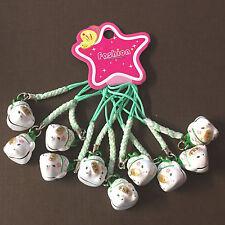 1 pc x Maneki Neko Lucky Cat Japanese, Bell, Cell Phone Charm, Handbag, Keychain
